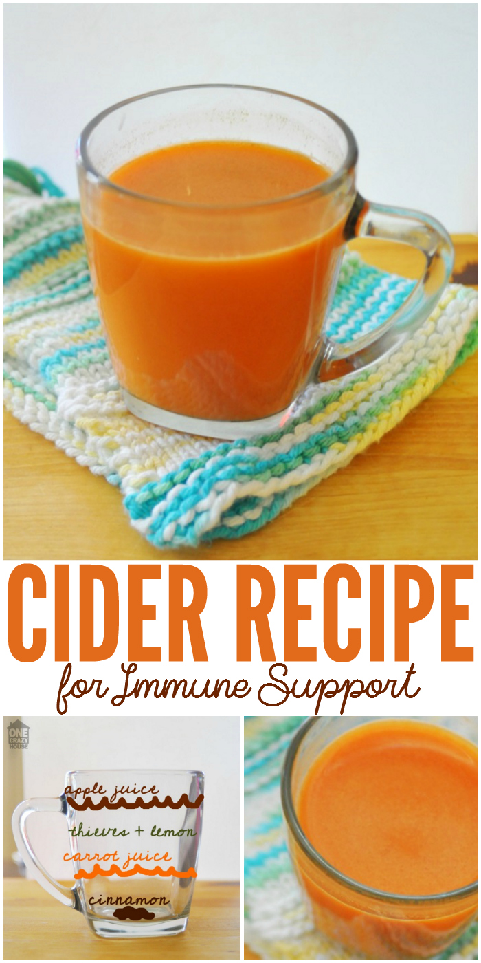 Try this cider recipe to help you with immune support.