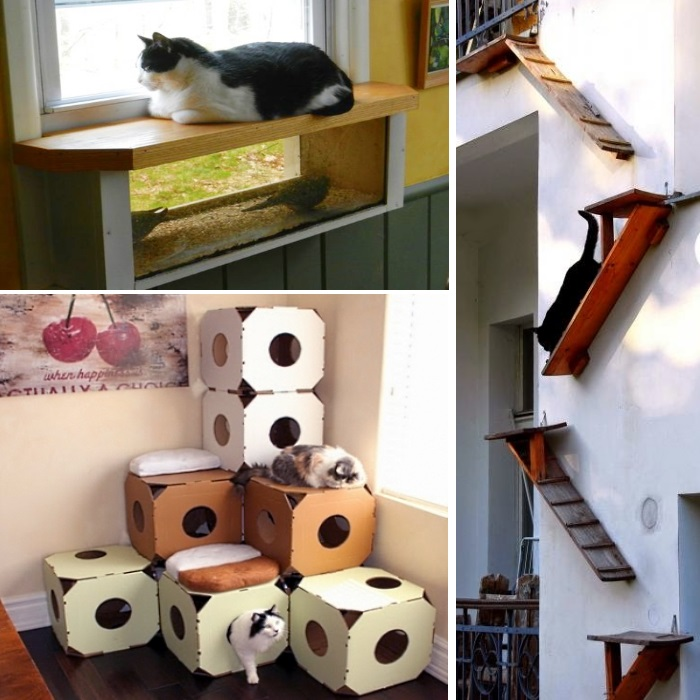 Beautiful Cat Houses Diy