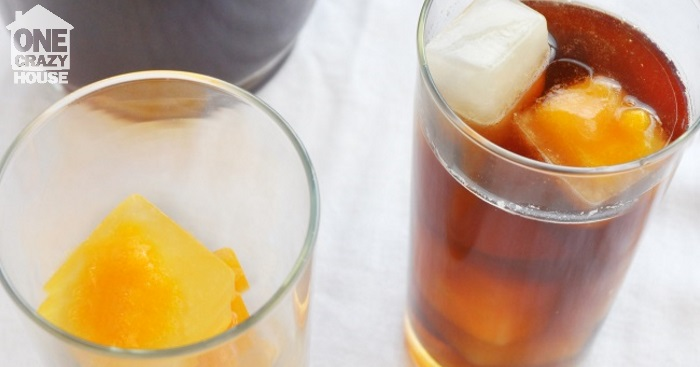 flavored tea with popscicle cubes 1ch
