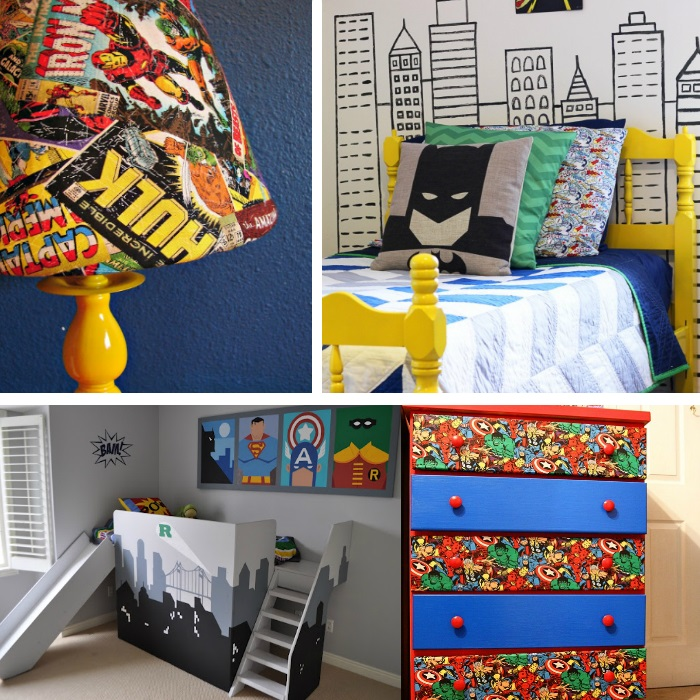 Awesome superhero ideas for kids 39 bedrooms for Comic book bedroom ideas