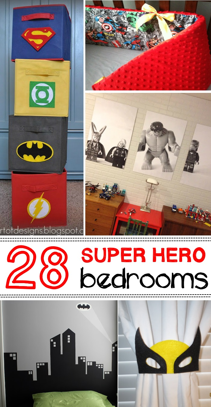 Awesome Superhero Ideas For Kids Bedrooms