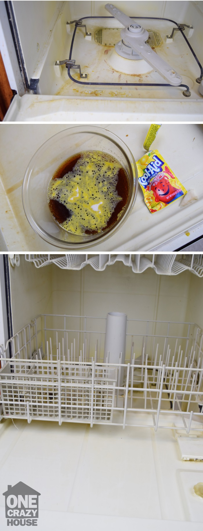 Save money with this two ingredient DIY dishwasher cleaner.