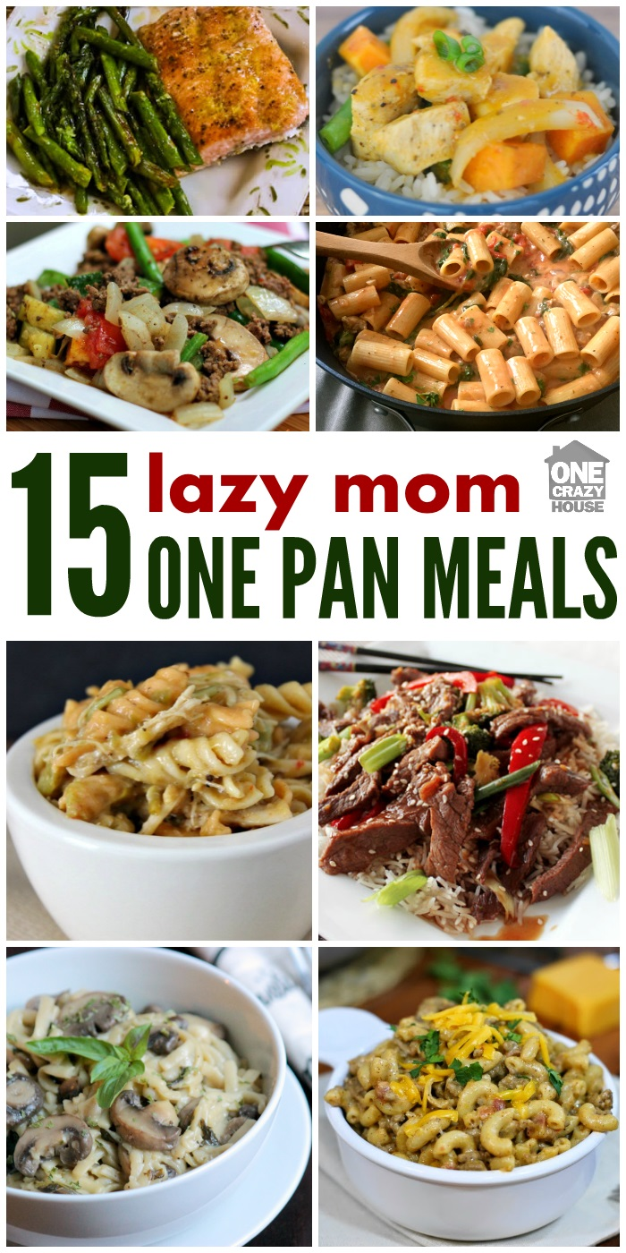 Every mom has days where she wants a good dinner with little clean-up. These one-pan recipes are just the answer for your busiest, or laziest nights.