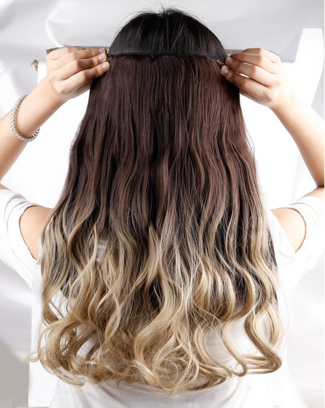 Quick Easy Hairstyles for Moms - use ombre hair extenstions