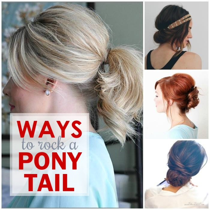 Quick and Easy Hairstyles for Moms - including different ways to wear a pony tail
