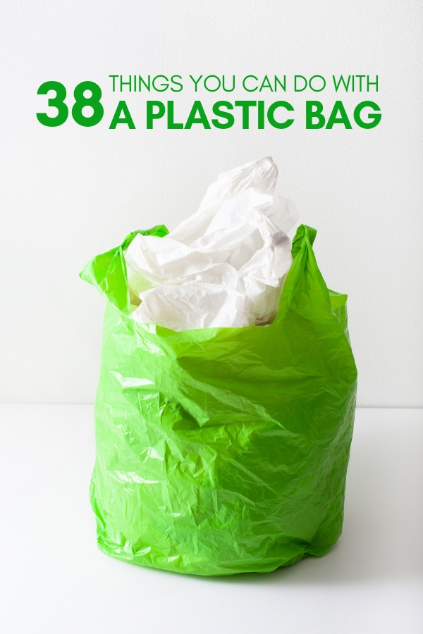 So you're stuck with plastic bags, but don't want to create more waste. Well here are 38 amazing ideas to reuse or repurpose those plastic bags.