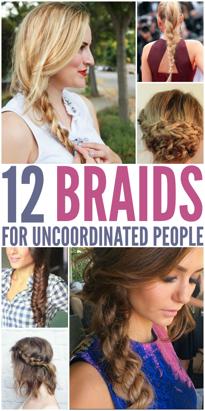 Let's face it, not all of us were blessed with great talent when it come to fixing our hair. Here are some stylish braids that anyone can do.