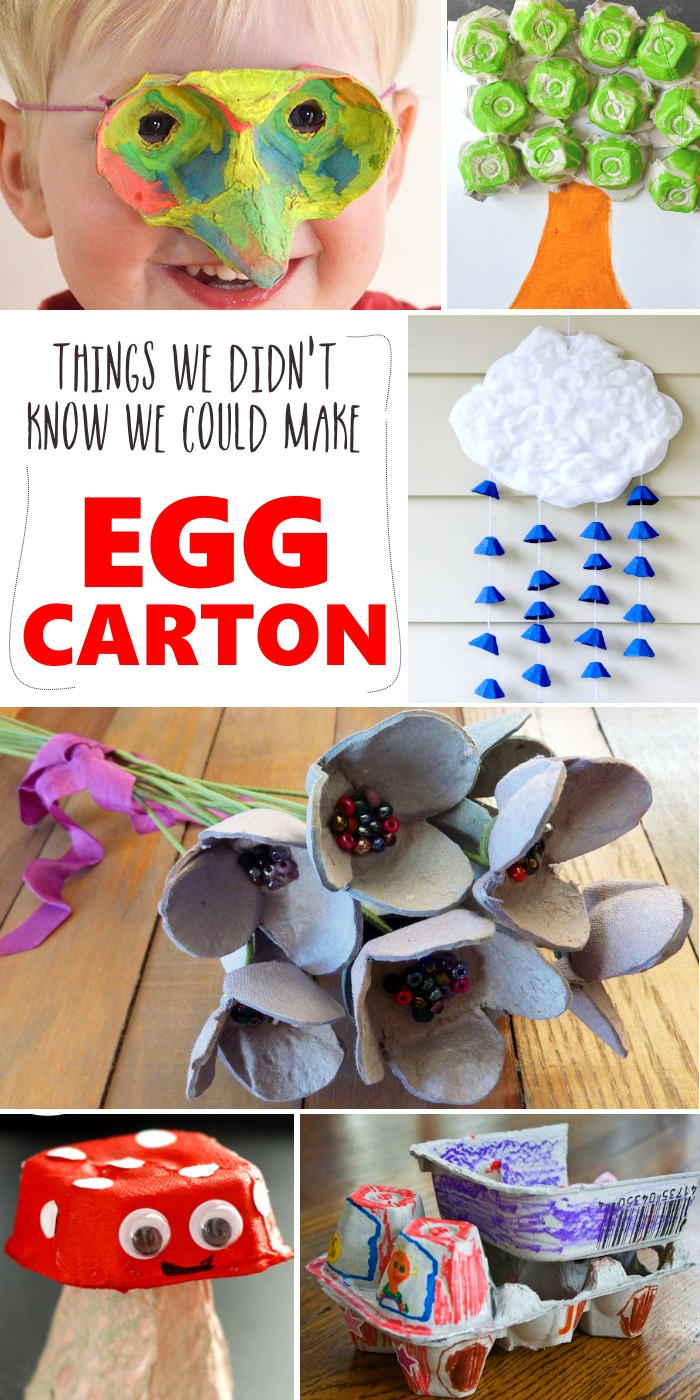 These egg carton crafts are so simple and fun! Don't throw out the egg cartons, reuse them instead! #eggcartons #crafts #easycrafts #onecrazyhouse