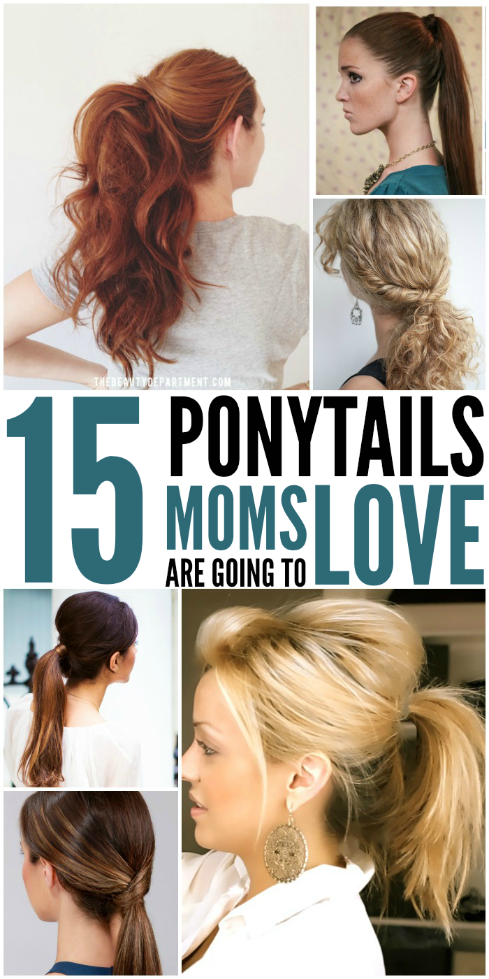 15 cute and quick ponytail ideas to spruce up mom hair ponytails and moms just go together here are some really cute ponytails that every mom solutioingenieria