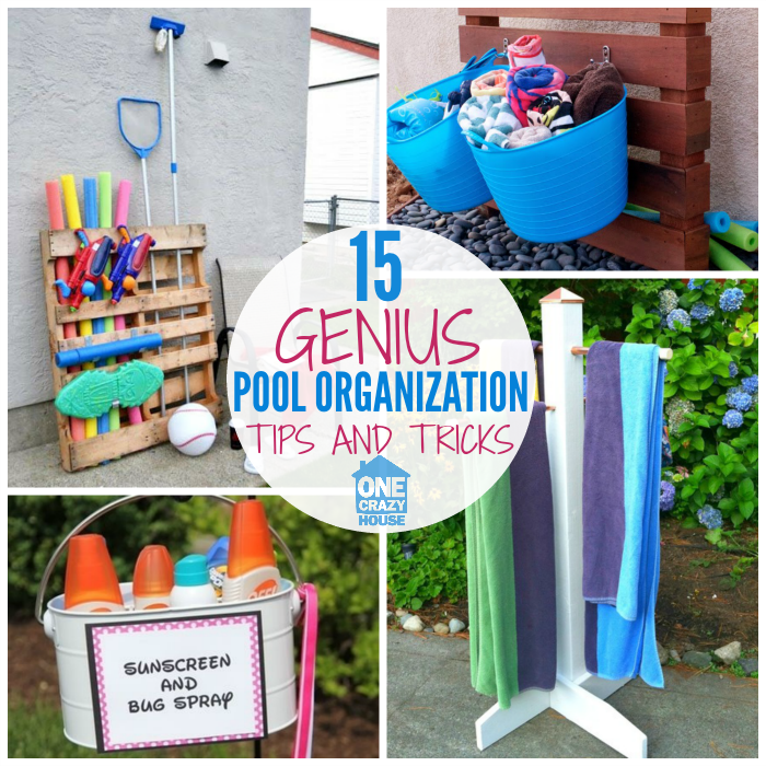 Charmant Pool Organization Ideas