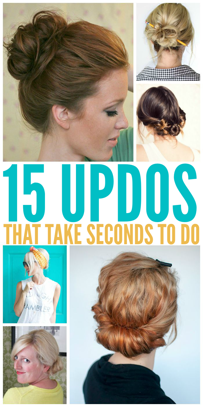 Updos that take SECONDS to do!