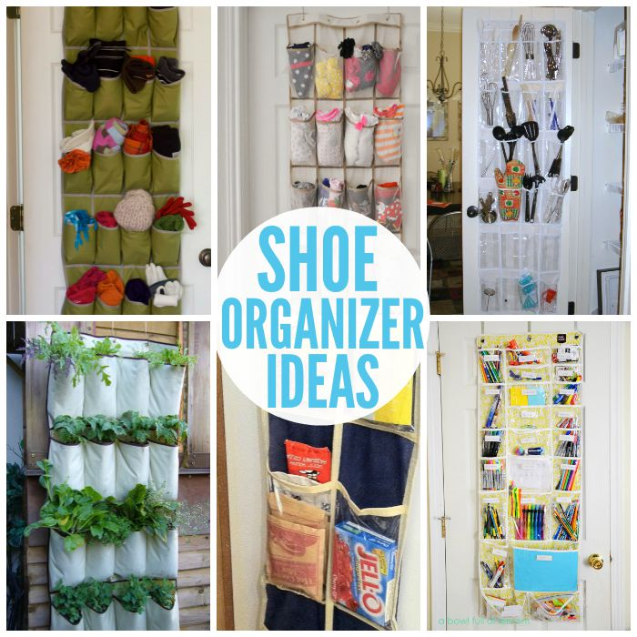 closet storage ideas - Smart Ways to Use Shoe Organizers