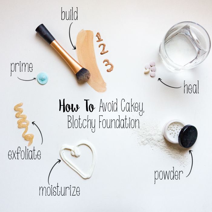 Avoid Cakey, Blotchy Foundation