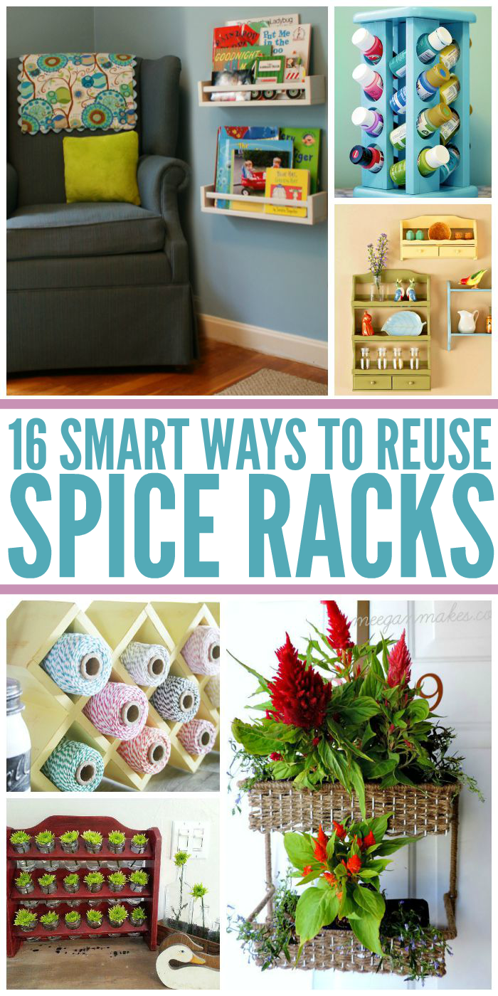 16 Smart Ways to Reuse Spice Racks