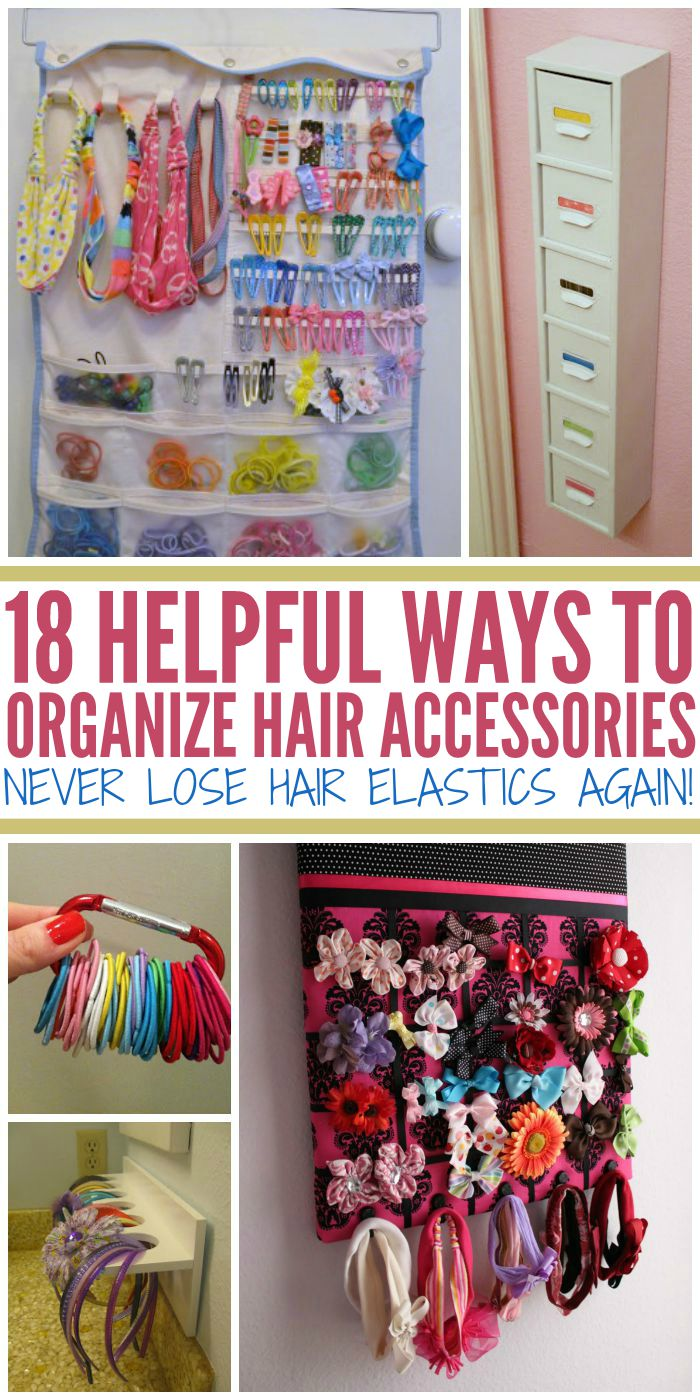 18 Helpful Ways to Organize Hair Accessories