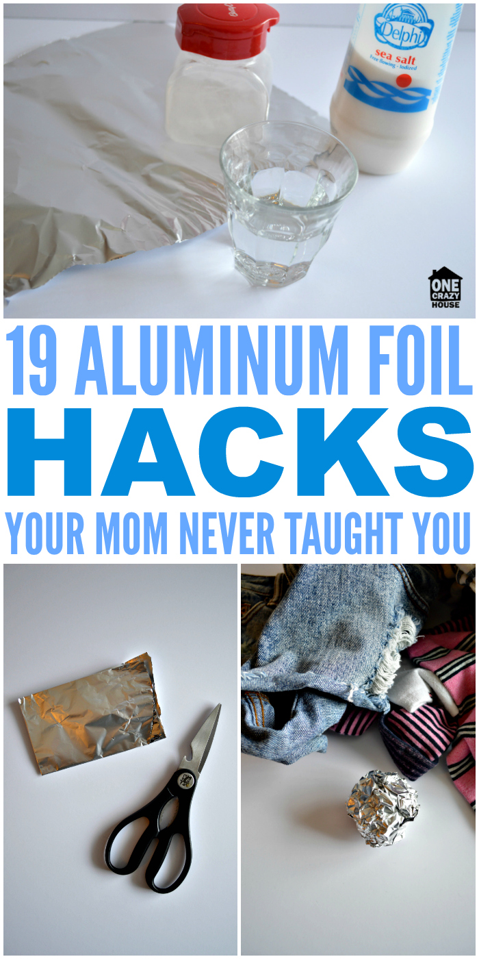 "These aluminum foil hacks are so simple, they're crazy awesome. Get ready to take your ""hacks"" game to a whole other level! #aluminumfoilhacks #hacks #onecrazyhouse #tipsandtricks"