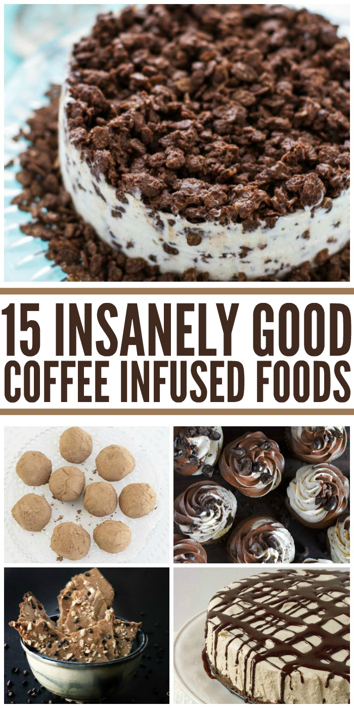 Insanely Good Coffee Flavored Foods pin