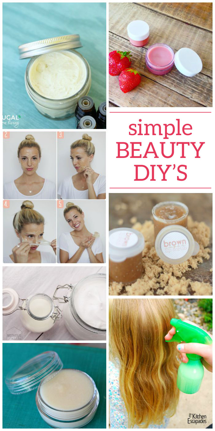 Making DIY beauty products can sound a little overwhelming at first, but it's really pretty easy! Just pick out your favorite and take it step by step. You'll find DIY and homemade is always better! #DIYbeautyproducts #onecrazyhouse #homemade #DIY #beauty #skincare