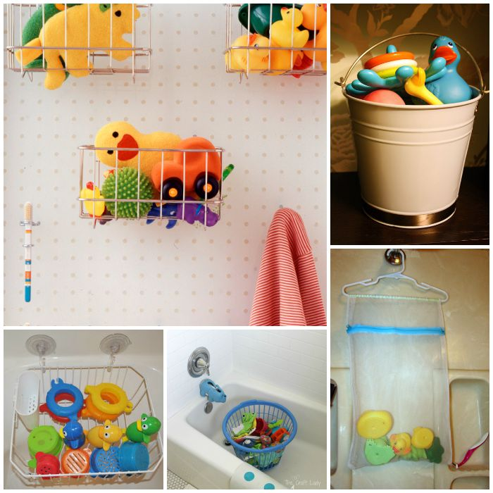 bath toy storage collage 3