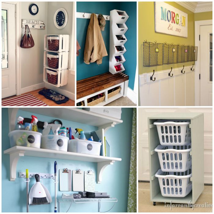 35 Home Storage Ideas Room By Room: Mudroom Organization Ideas That Will Keep The Rest Of Your