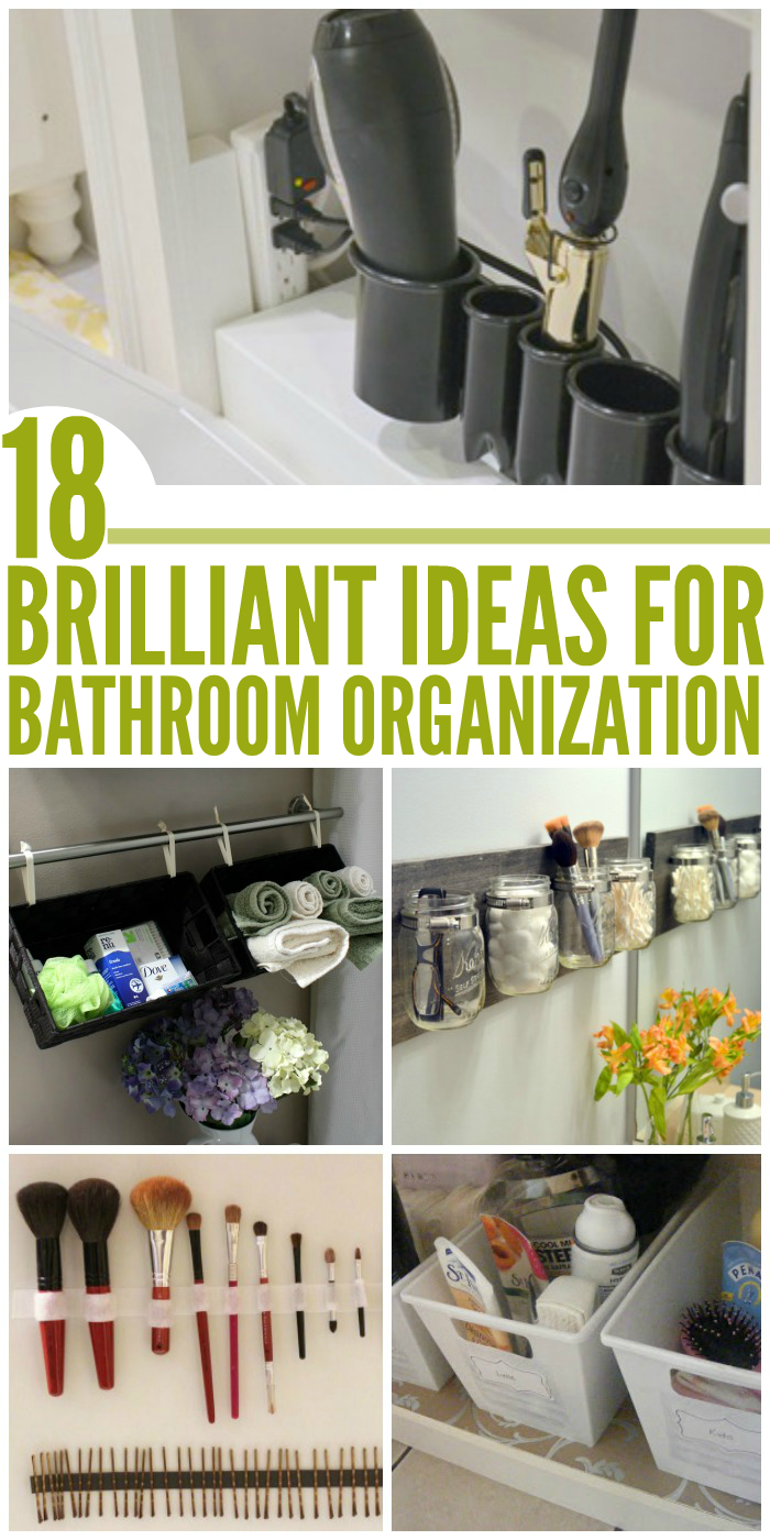 Keep your sanity by keep an organized bathroom with these DIY tips, tricks, and ideas.