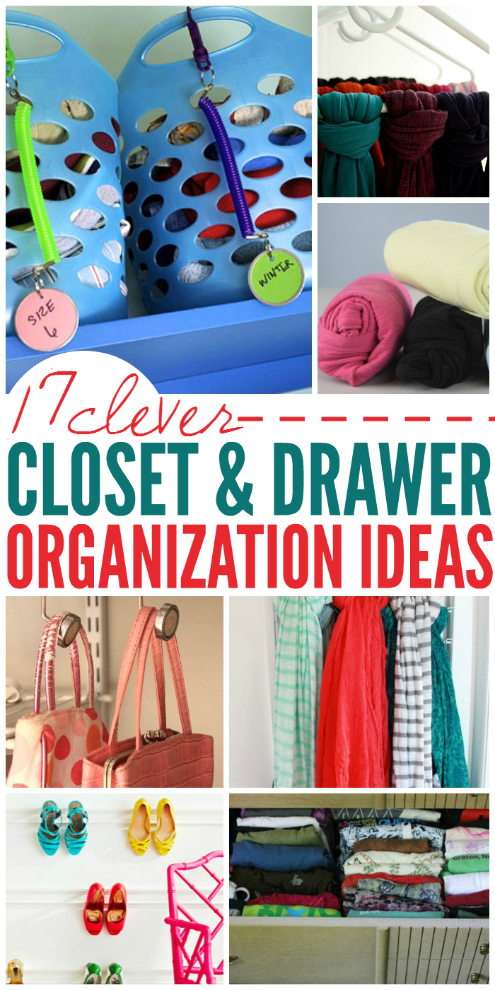 17 clever ideas to organize closets and drawers for Ideas to organize closets