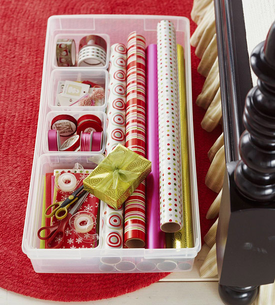 Gift Wrap Storage Ideas 12