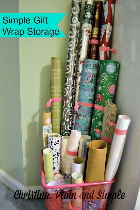 Gift Wrap Storage Ideas 5