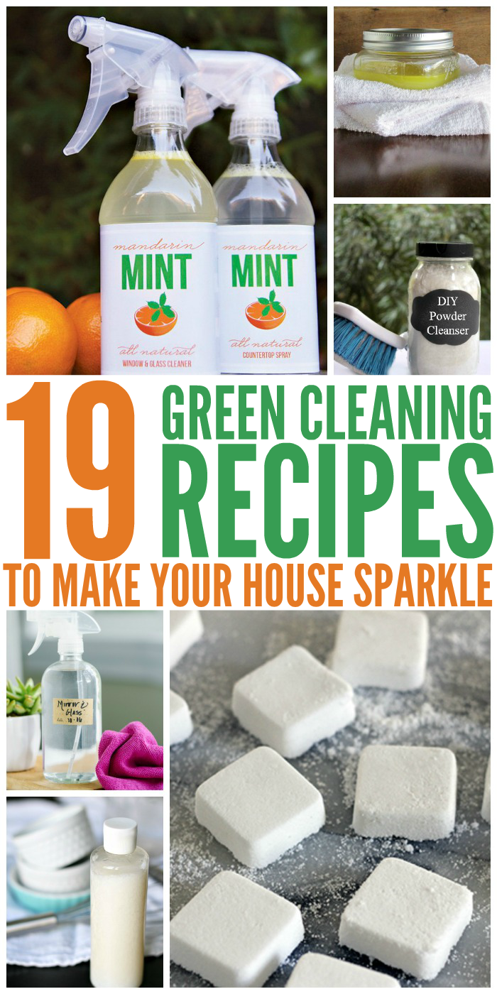 Green Cleaning Recipes to Make Your House Sparkle