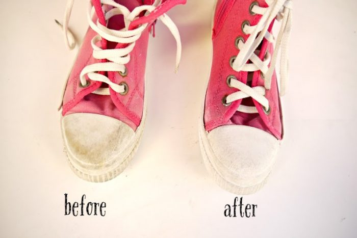 how to clean off stains on shoes