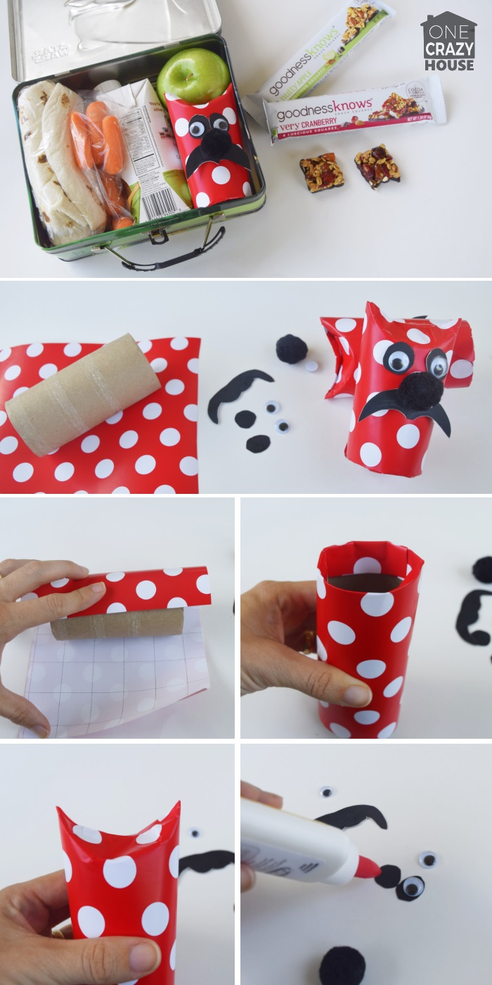Gift Wrapping Idea - Make a onster man from a tube