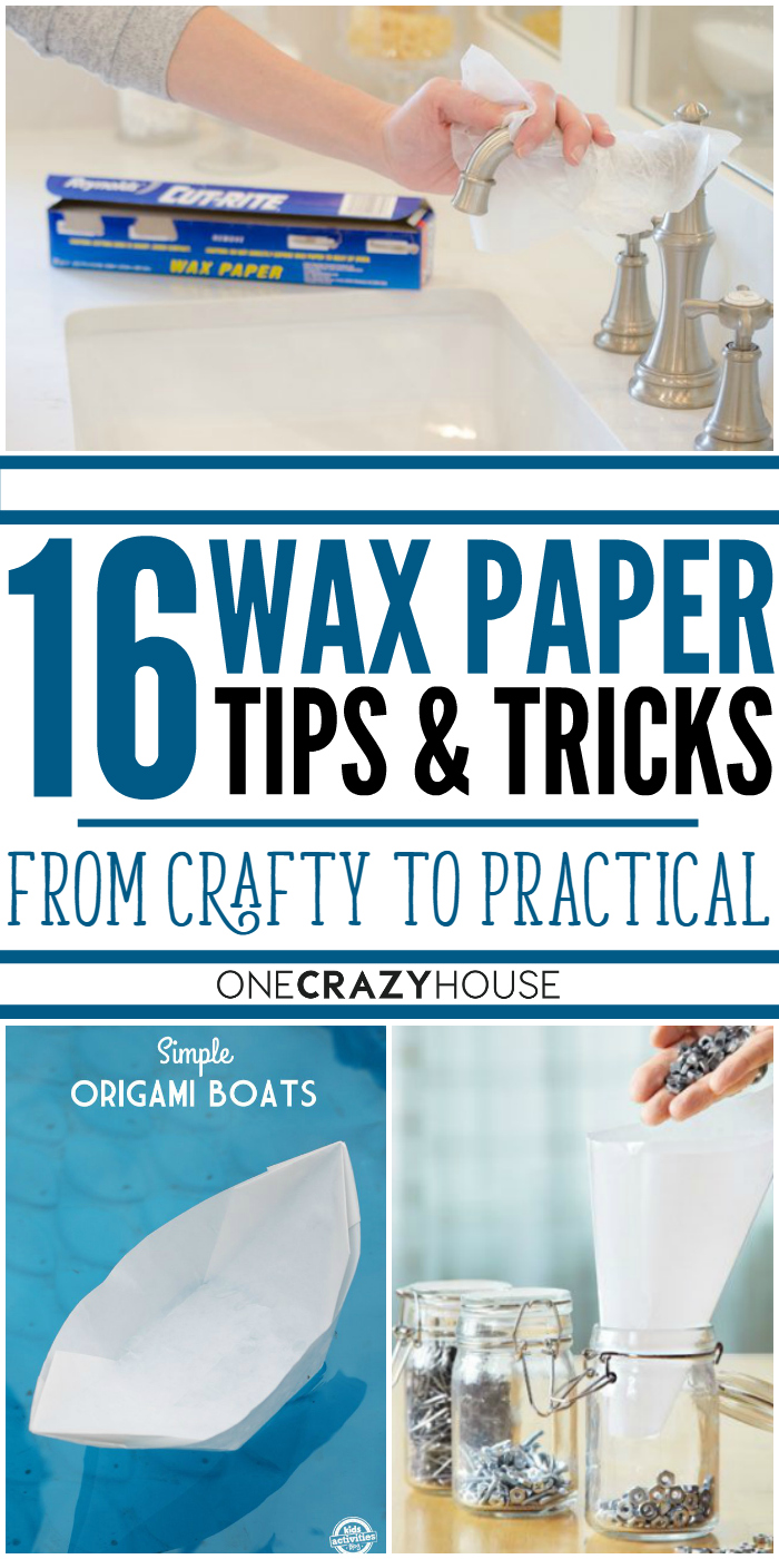 16 incredible wax paper tips & tricks, from crafty to practical.