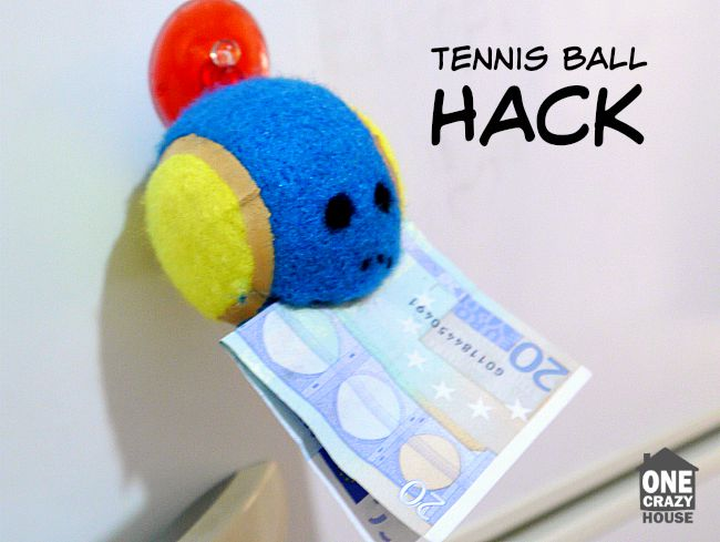 tennis ball hack to keep track of important papers