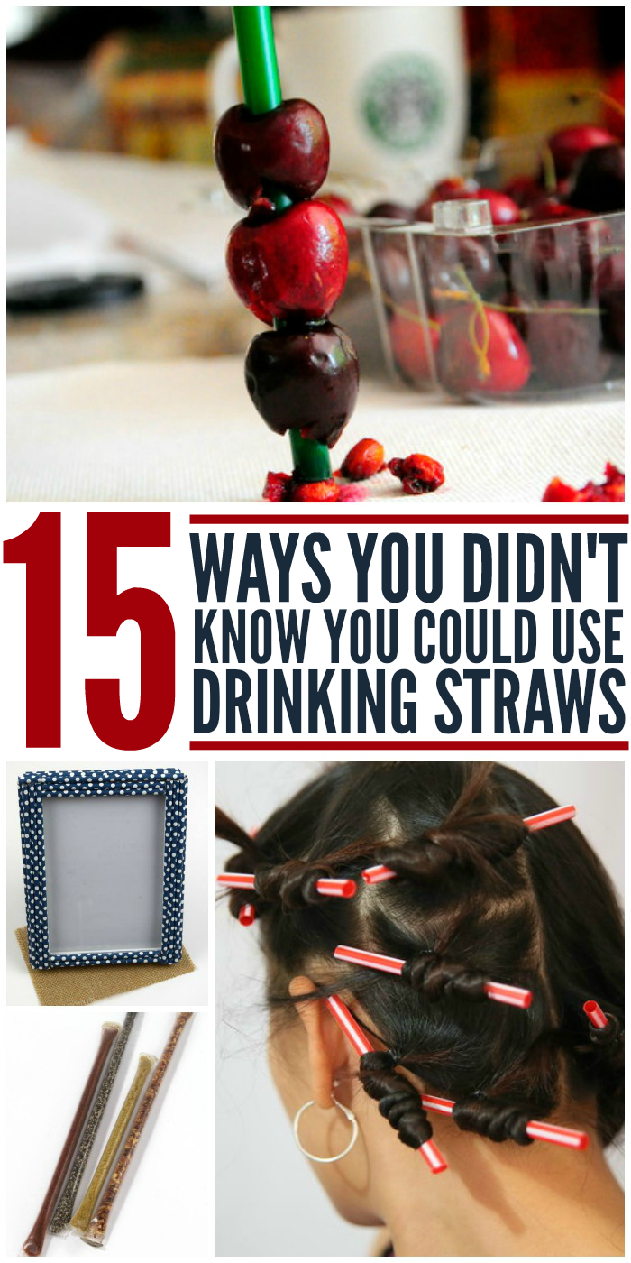 15 Ways You Didn't Know You Could Use Drinking Straws