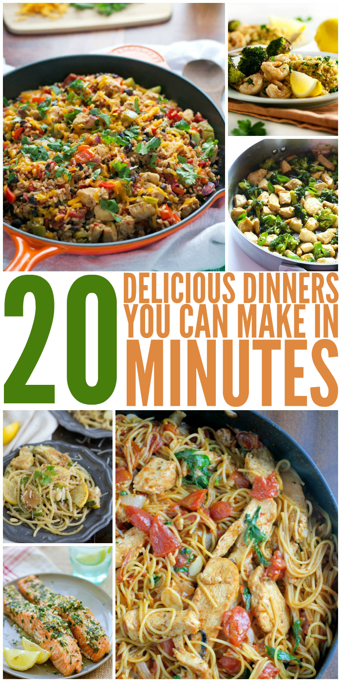 20 Delicious 20-Minute Dinner Ideas for When You Have No Time to Cook