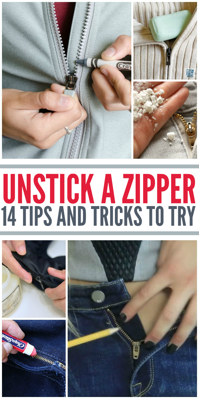 How to Unstick a Zipper
