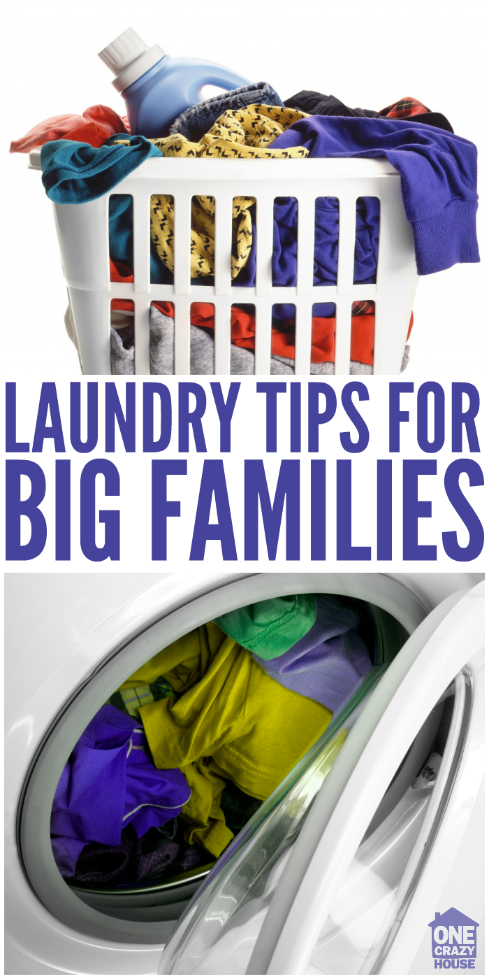 Sanity saving laundry tips for large families for Large family laundry