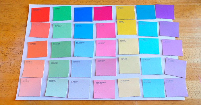 Diy paint sample dry erase calendar calendar process 2 solutioingenieria Image collections
