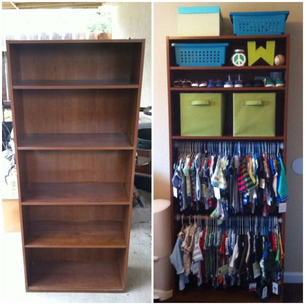 15 Totally Genius Ways To Organize Baby Clothes Bookshelf Child Room