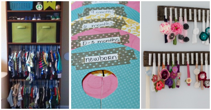 f20ee90f1 15 Totally Genius Ways to Organize Baby Clothes