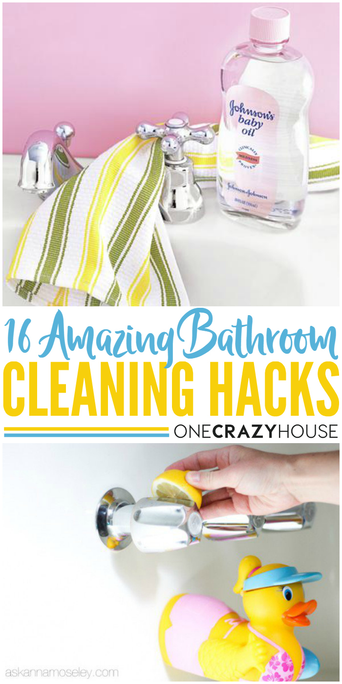 16 amazing bathroom cleaning hacks - Bathroom Cleaning Hacks