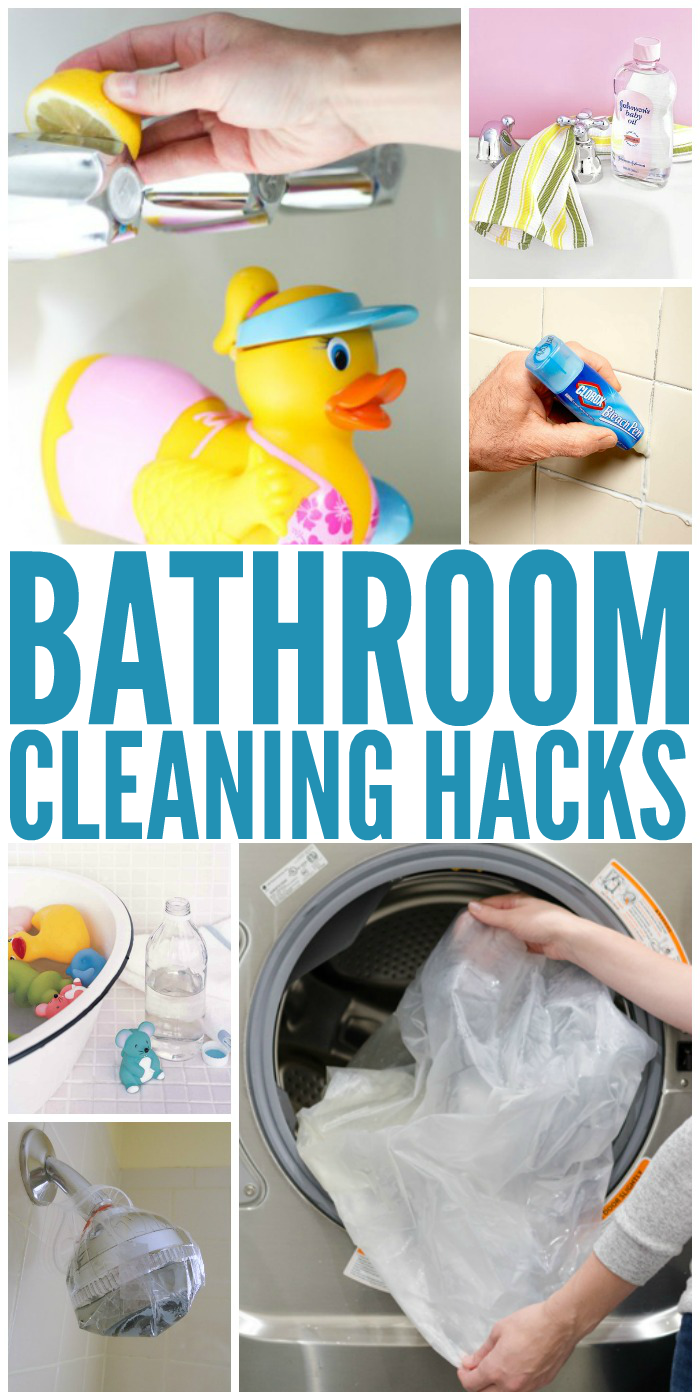 16 tricks that will change the way you clean your bathroom - Bathroom Cleaning Hacks