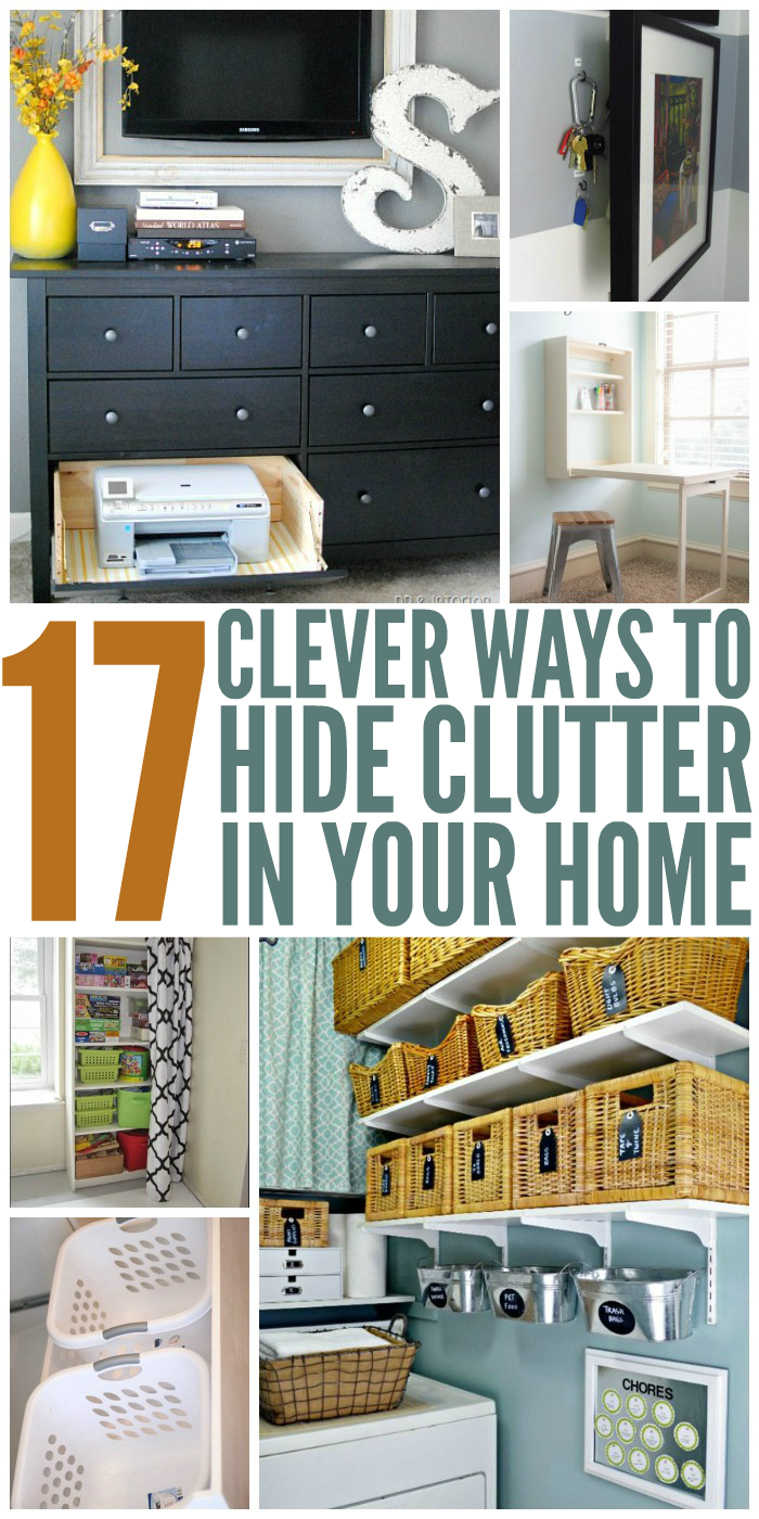 Make Clutter virtually disappear and give a stylish spin to your house with these DIY ideas and tricks.