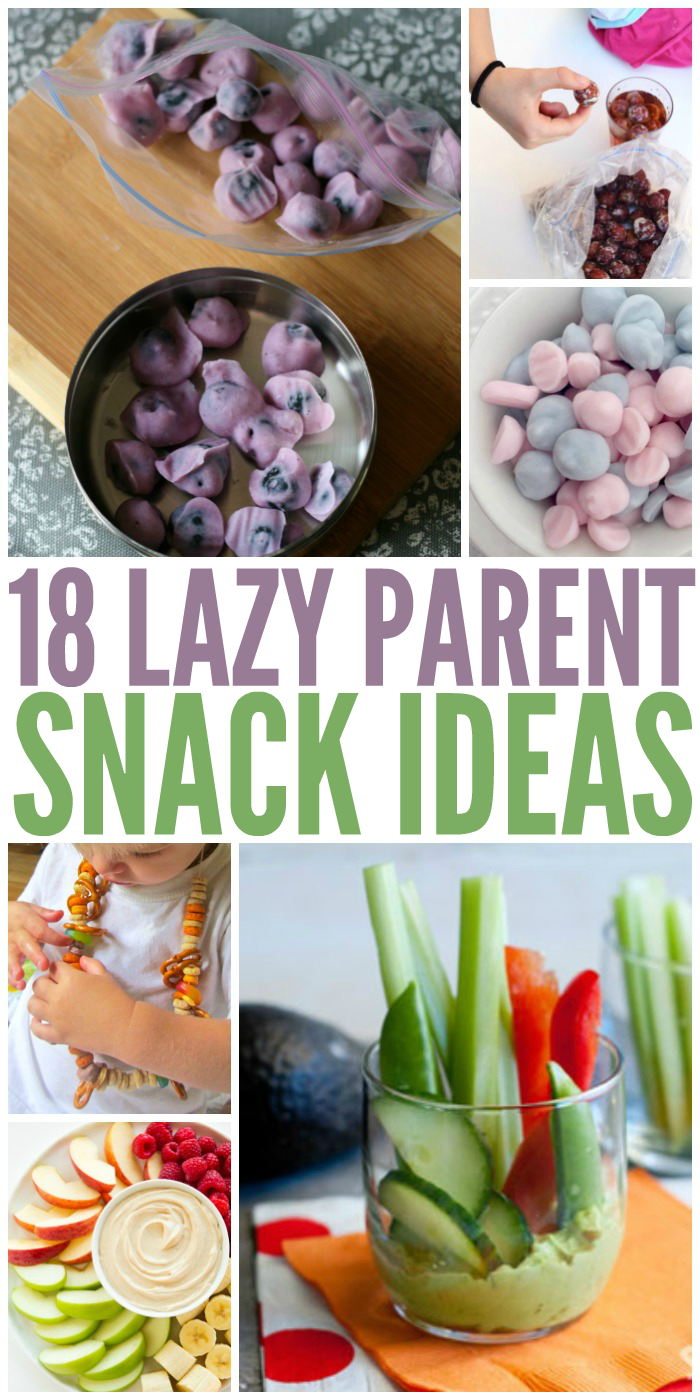 We've all had those days where we just can't do it all. Make snack time hassle free with these easy, quick  snack ideas.