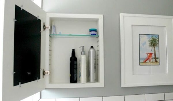 hidden cabinets are genius storage ideas for decluttering