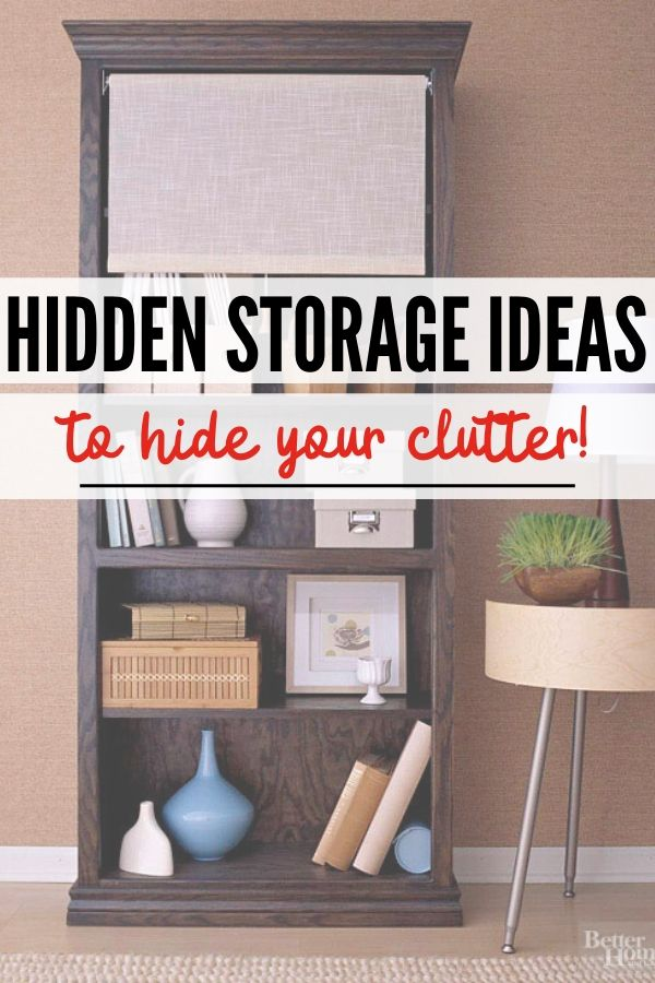pin image hidden storage to declutter