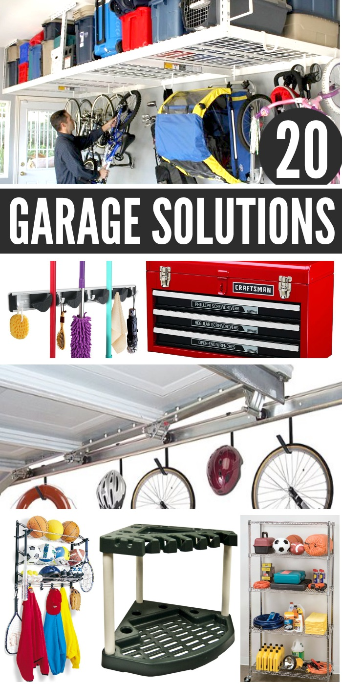 Eliminate clutter with these 20 garage storage ideas!