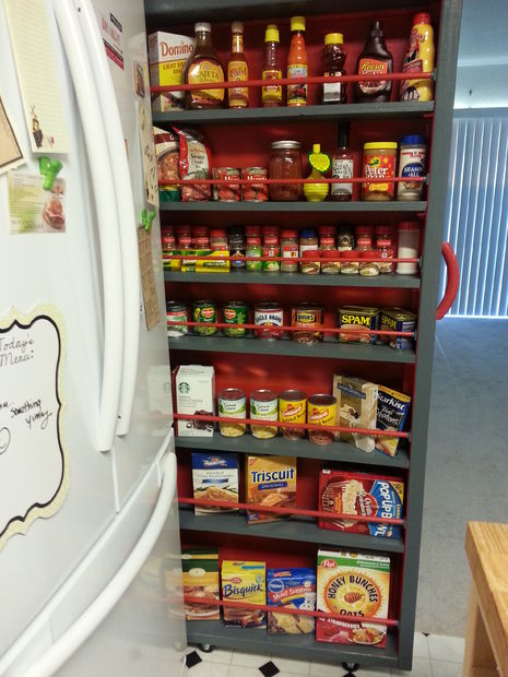 spice pantry hidden storage idea