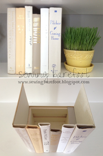 hidden storage can even be in old books used to create a secrete clutter hiding spot