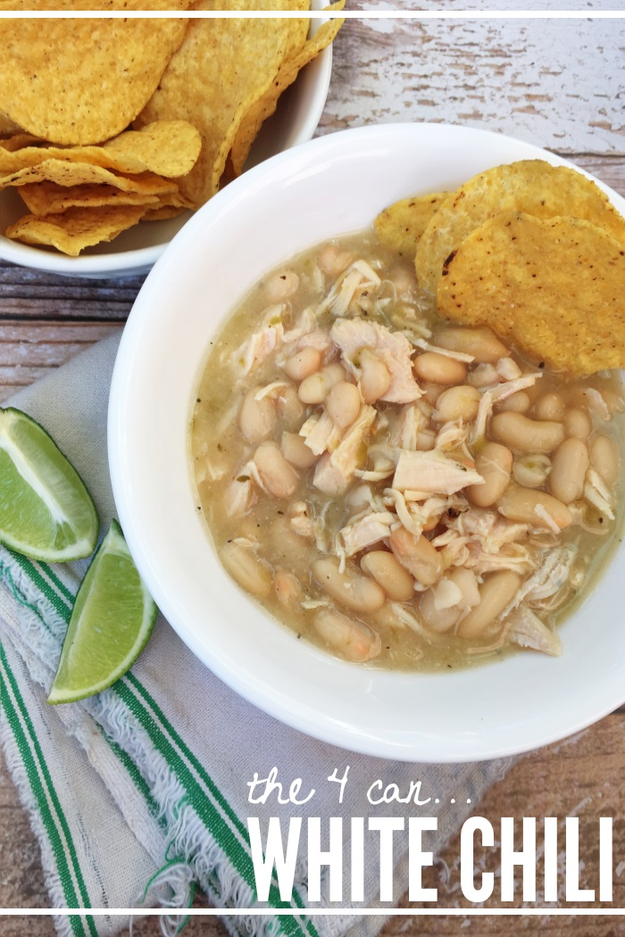 How to make white chili - with cans!